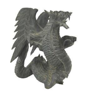 バリ島製 木彫りオブジェ ドラゴン H20 Left (アジアンインテリア)|faristyle
