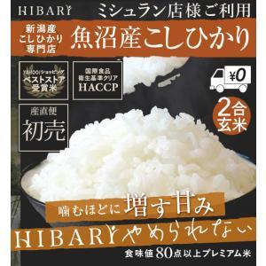 玄米 お試し 魚沼産こしひかりHIBARI お米 30年産 こしひかり 米 産地限定 2合 産地直送|farmex
