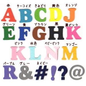 【書体1】【#coo】【4.5cm】アルファベットのカットワッペン|farnnie-ya