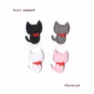 黒猫のアイロンワッペン2枚セット【S】|farnnie-ya