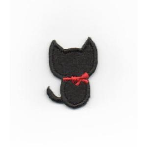 黒猫のアイロンワッペン【M】|farnnie-ya