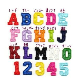 【3cm】【カレッジ体】アルファベット数字のワッペン