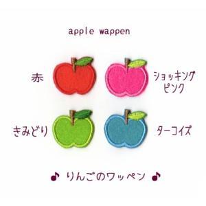 りんごのアイロンワッペン3枚セット【SS】 farnnie-ya