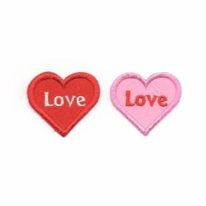 LOVEロゴのハートのアイロンワッペン|farnnie-ya