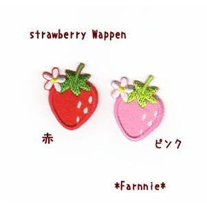 いちごのワッペン【M】|farnnie-ya