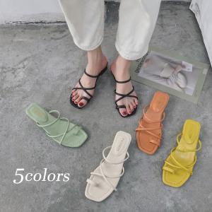 サンダル レディース 靴 シューズ 春 夏 韓国風 パンプス サンダル 太めヒール 美脚 履きやすい...