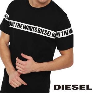 ディーゼル DIESEL Tシャツ シャツ メンズ 半そで 半袖 ロゴ ブラック 黒 トップス 人気 ブランド 00ST5I ONAVI 900 BMOWT-JUST-B fashion-labo