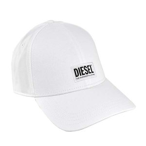 ディーゼル DIESEL 帽子 キャップ ベースボールキャップ スナップバック メンズ レディース ホワイト 白色 フリーサイズ コットン ロゴ ブランド 00syq9 fashion-labo