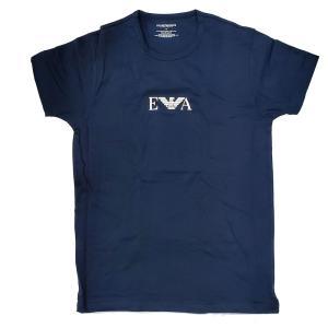 アルマーニ Tシャツ メンズ ブランド エンポリオ アルマーニ EMPORIO ARMANI 半袖 半そで ロゴ コットン ネイビー 紺色 丸首 111267 トップス fashion-labo