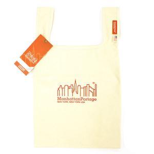 マンハッタンポーテージ Manhattan Portage バッグ エコバッグ トートバッグ メンズ キャンバス ナチュラル ベージュ コーデュラ ロゴ ブランド 1329cvl-na fashion-labo