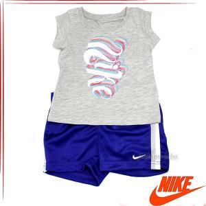 ナイキ NIKE Tシャツ パンツ 2ピースセットアップ 子供服 子ども服 女の子 おんなの子 キッズ服 ベビー服 グレー パープル ロゴ ブランド 169126 fashion-labo