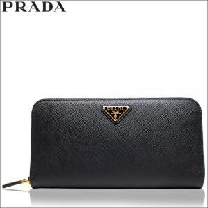 プラダ PRADA 財布 長財布 ラウンド サフィアーノ レザー ブラック レディース アウトレット ブランド 1ml506 セール 新品|fashion-labo