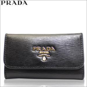 プラダ PRADA キーケース 6連 アウトレット ブランド レディース 1pg222 ブラック セール 2018 秋冬 新作|fashion-labo