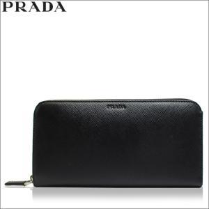 プラダ PRADA 財布 長財布 ラウンド サフィアーノ レザー ブラック メンズ アウトレット ブランド 2ml317 セール 新品|fashion-labo