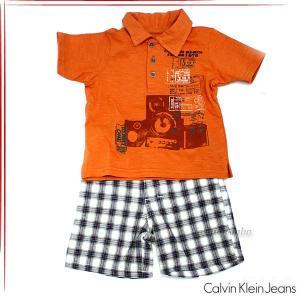 カルバンクラインジーンズ ボーイズ ポロシャツ パンツ 2ピースセット ベビー服 3672133t fashion-labo