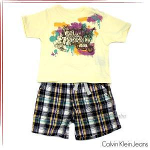 カルバンクラインジーンズ 男の子 ボーイズ Tシャツ パンツ 2ピースセット ベビー服 3672200t fashion-labo
