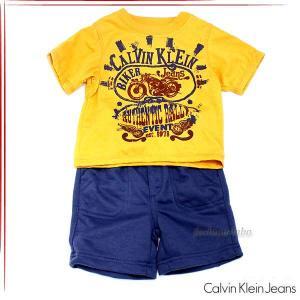 カルバンクラインジーンズ ボーイズ Tシャツ パンツ 2ピースセット ベビー服 3672205 fashion-labo