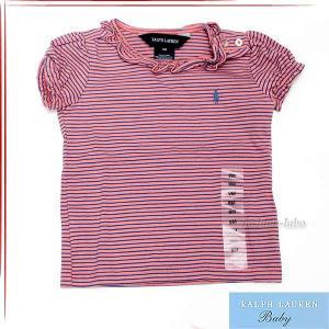 ラルフローレン Ralph Lauren ベビー服 キッズ 子供服 女の子 Tシャツ 半そで 半袖 ボーダー カットソー ブランド 370140110 fashion-labo