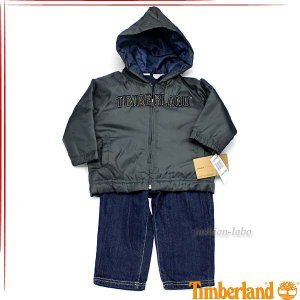 ティンバーランド ボーイズ ウィンドブレーカーロンTシャツデニム 3ピースセット ベビー服 41673039 fashion-labo