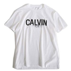 カルバンクラインジーンズ Calvin Klein Jeans CK Tシャツ 半袖 半そで ホワイト 白 シャツ 綿100% ロゴ刺繍&プリント クルーネック 丸首 ブランド 41VM824 fashion-labo