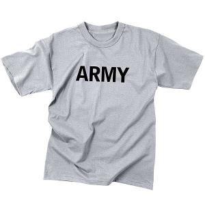 子供服 Tシャツ キッズ用 男の子 女の子 半袖 丸首 ミリタリー ARMY グレー フィジカルトレーニング 66080 ロスコ Rothco ブランド fashion-labo