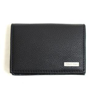 カルバンクライン Calvin Klein CK カードケース 名刺入れ メンズ ブラック 黒色 レザー 本革 ビジネス ロゴ ブランド 79128 fashion-labo