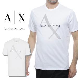 アルマーニ Tシャツ メンズ アルマーニ エクスチェンジ ARMANI EXCHANGE 半袖 ブランド ロゴ ホワイト 白 半袖 半そで Mサイズ Lサイズ 8NZT76 fashion-labo