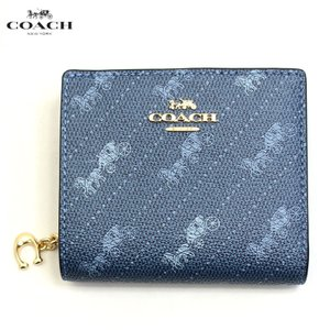 コーチ COACH 財布 二つ折り財布 折り財布 ラグジュアリー Cチャーム c4104imden レディース レザー デニムブルー ブランド|fashion-labo