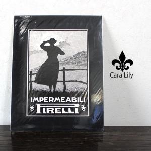アンティーク 広告 ポスター ピレリタイヤ レインコート 1928年 イタリア製 雑貨 PIRELLI ca03|fashion-labo