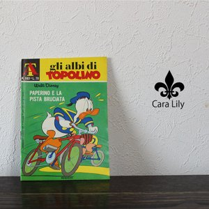 アンティーク 1971年 本 漫画 マンガ アニメ ディズニー オブジェ イタリア製 雑貨 ca05|fashion-labo