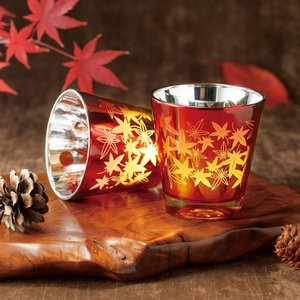 ペアグラス グラス コップ カップ エレガントスタイル Momiji 紅葉 もみじ グラス ペア グラス 2個セット カラリリー caraele11|fashion-labo