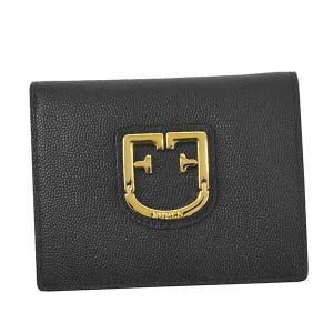 フルラ FURLA 財布 二つ折り財布 折り財布 PBF5 レディース ブラック 黒 牛革 ブランド fashion-labo