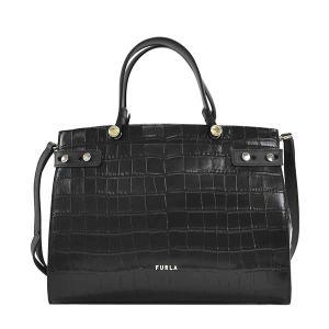 フルラ FURLA バッグ ハンドバッグ ショルダーバッグ 2WAYバッグ レザー 本革 レディース ブラック ロゴ ブランド BAWC01L fashion-labo