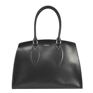 フルラ FURLA バッグ トートバッグ ショルダーバッグ レディース ドリス レザー 本革 底鋲 ブラック 黒 ロゴ ブランド BASOFDR fashion-labo