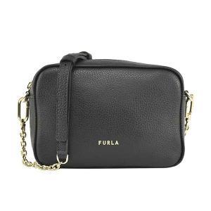 フルラ FURLA バッグ ショルダーバッグ 斜めがけバッグ 斜め掛けバッグ WB00243 レディース ブラック 黒 レザー 本革 牛革 ロゴ ブランド fashion-labo