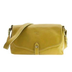 イルビゾンテ IL BISONTE バッグ ショルダーバッグ 斜めがけバッグ 斜め掛けバッグ ななめがけバッグ BSH034 メンズ イエロー 牛革 ブランド fashion-labo