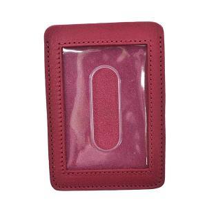 イルビゾンテ IL BISONTE パスケース カードケース 定期入れ SCC002 メンズ ピンク 牛革 ブランド fashion-labo