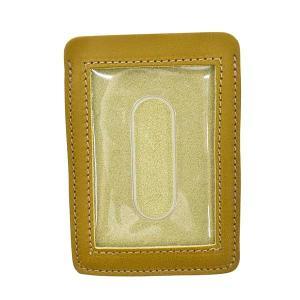 イルビゾンテ IL BISONTE パスケース カードケース 定期入れ SCC002 メンズ イエロー 牛革 ブランド fashion-labo