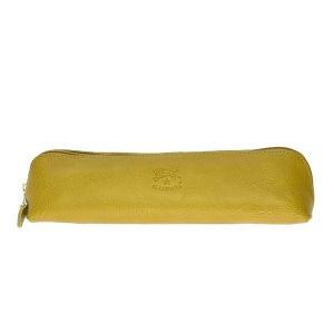 イルビゾンテ IL BISONTE ペンケース 筆箱 筆記用具 文具 SCA020 メンズ イエロー 牛革 ブランド fashion-labo