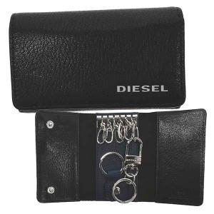 ディーゼル DIESEL キーケース キーホルダー X06640 メンズ ブラック ブルー 羊革 ブランド fashion-labo