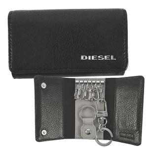 ディーゼル DIESEL 6連 キーケース キーホルダー X06640 メンズ ブラック 黒 グレー 羊革 シープスキン 本革 ロゴ ブランド fashion-labo
