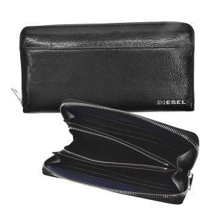 ディーゼル DIESEL 財布 長財布 ラウンド長財布 X06752 メンズ ブラック ブルー 羊革 ブランド fashion-labo