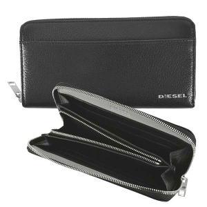 ディーゼル DIESEL 財布 長財布 ラウンドファスナー X06752 メンズ ブラック 黒 レザー 本革 羊革 シープスキン ロゴ ブランド fashion-labo