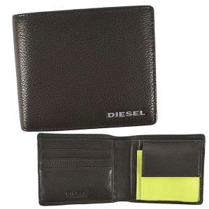 ディーゼル DIESEL 財布 二つ折り財布 折りたたみ財布 X06757 メンズ ブラウン レザー 本革 羊革 シープスキン ロゴ ブランド fashion-labo