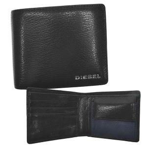 ディーゼル DIESEL 財布 二つ折り財布 折り財布 X06757 メンズ ブラック ブルー 羊革 ブランド fashion-labo
