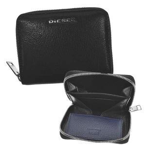 ディーゼル DIESEL 財布 小銭入れ コインケース X07321 メンズ ブラック ブルー 羊革 ブランド fashion-labo