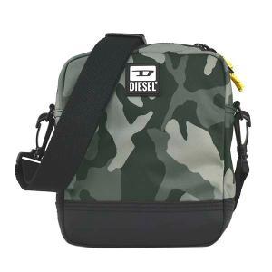 ディーゼル DIESEL バッグ ショルダーバッグ 斜めがけバッグ 斜め掛けバッグ X07506 メンズ 迷彩 カモフラージュ グレー ロゴ ブランド fashion-labo