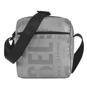 ディーゼル DIESEL バッグ ショルダーバッグ 斜めがけバッグ 斜め掛けバッグ X07797 メンズ ライトグレー ロゴ ブランド fashion-labo