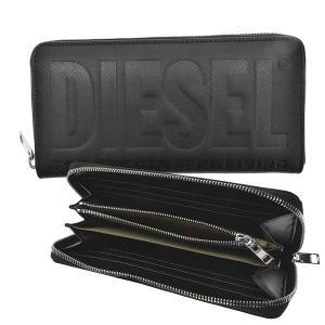 ディーゼル DIESEL 財布 長財布 ラウンド長財布 X08178 メンズ ブラック 黒 ポリウレタン ブランド fashion-labo