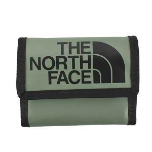 ノースフェイス THE NORTH FACE 財布 三つ折り財布 折りたたみ財布 NF00CE69 メンズ グリーン 緑 ナイロン財布 ロゴ ブランド|fashion-labo